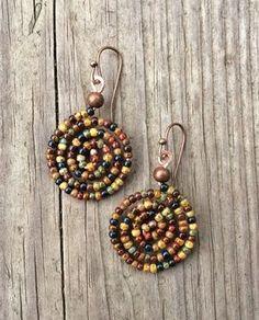 Boho Earrings Colorful Bohemian Spiral Earrings