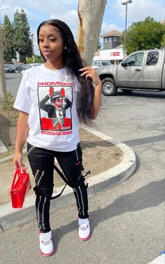 Baddie Outfits Casual, Boujee Outfits, Swag Outfits For Girls, Teenage Girl Outfits, Girls Summer Outfits, Cute Swag Outfits, Dope Outfits, Retro Outfits, Cute Kids Fashion