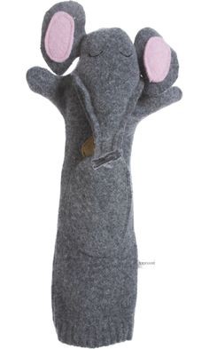 Seven Smooches Elephant and Peanut Hand and Finger Puppet