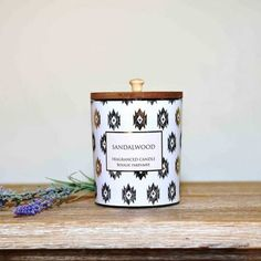 With a natural wooden lid this Sandalwood candle smells amazing. An Aztec design ensures it will look stylish in any home. #candle #candlepoy #candlelight #candles #scentedcandles #candlegift Sandalwood Candles, Scented Candles, Home Interior Accessories, Aztec Designs, Elegant Homes, Rustic Furniture, Flask, Your Design, Fragrance