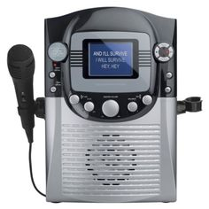"The Singing Machine CD+G Karaoke System with 3.5"" Color LCD Monitor - Black/Silver (STVG359)"