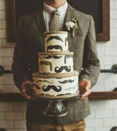 Wedding Ideas For Your Groom : theBERRY mustache hipster wedding cake Hipster Wedding, Lgbt Wedding, Wedding Cakes, Hipster Groom, Hipster Mustache, Hipster Party, Camo Wedding, Wedding Groom, Green Wedding