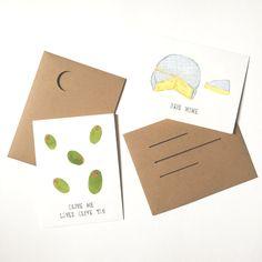 Foodie Valentine's Day cards #olivemelovesoliveyou #briemine
