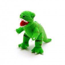 Green Knitted T-Rex Dinosaur