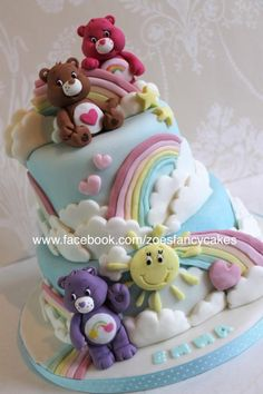Carebears - Cake by Zoe's Fancy Cakes - more at https://www.facebook.com/zoesfancycakes