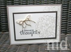 July 15, 2015 Monika Davis: In My Thoughts; Stampin' Up! Best Thoughts (hostess)