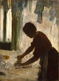 """""""A Woman Ironing"""", 1873 By: EDGAR DEGAS…."""