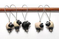 zima's little flock of stitch markers by knottynaomi on Etsy, $14.00