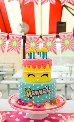 Shopkins cake from a Shopkins Birthday Party via Kara's Party Ideas | KarasPartyIdeas.com (25)