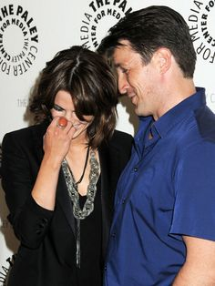 Stana Katic and Nathan Fillion at 2010 PaleyFest