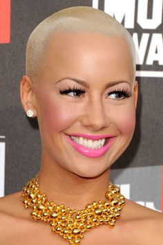 Amber Rose someday i will be brave enough to shave my head and be beautiful still.