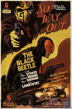 Cool Art: 'The Black Beetle' (Variant) by Francesco Francavilla Comic Book Covers, Comic Books Art, Omg Posters, Movie Posters, Black Beetle, Comic Kunst, Batman, Pop Culture Art, Poster Prints