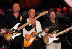 Sting, Mark Knopfler and Eric Clapton