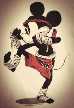 Mickey mouse in Thai boxing