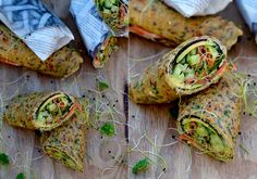 Wrap med laks Fresh Rolls, Tapas, Avocado Toast, Beverages, Drinks, Picnic, Food And Drink, Healthy Recipes, Healthy Food
