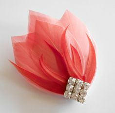 Art Deco Bridesmaid Head Piece Great Gatsby Roaring Hairpiece Wedding Hair Accessories Wedding Hair Piece Coral from Parfait Plumes. Great Gatsby Headpiece, Headpiece Wedding, Head Accessories, Wedding Hair Accessories, Art Deco Bridesmaids, Art Deco Wedding, 20s Wedding, Hair Wedding, Feather Jewelry