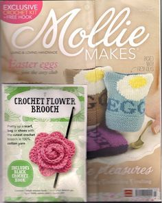 Mollie Makes Craft Magazine Issue 12  Loving the freebie brooch. Pink!
