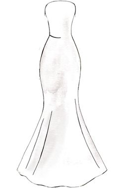 Searching for wedding dress ideas? Find the dress style perfect for your wedding day at David's Bridal, with wedding dress silhouettes for every bride! Dress Design Drawing, Dress Design Sketches, Fashion Design Sketchbook, Dress Drawing, Fashion Design Drawings, Fashion Sketches, Fashion Drawing Tutorial, Fashion Figure Drawing, Fashion Drawing Dresses