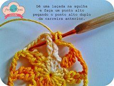 """Luciana Ponzo Criações em Crochê: Flor """"Cheia de Charme"""""""
