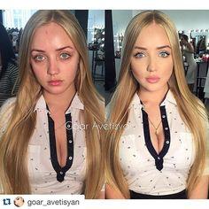 #Repost @goar_avetisyan with @repostapp. ・・・ New video coming soon скоро будет новое видео с красоткой @svetlana_kuzovova , макияж за 20 минут