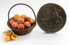 NJD Miniatures, Vicky Guile peaches basket