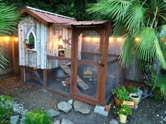 Rustic (and rusty) chicken coop and run. via The Chicken Chick on Facebook