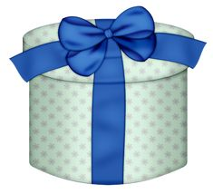 White Round Gift Box with Yellow Bow PNG Clipart