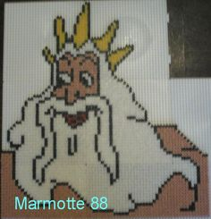 King Triton The Little Mermaid hama beads by marmotte88130