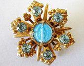 Immaculate Heart of Mary Enamel Rhinestone Pin