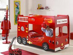 Brandweer auto als kinderbed om zelf te maken.