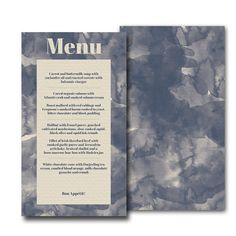 Printable Wedding Menu - The Watercolor Suite