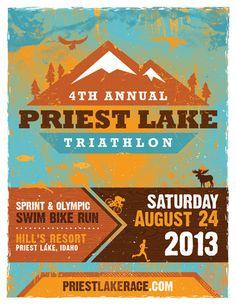 Priest Lake Race Poster « Tran Creative Graphic Design Studio ...