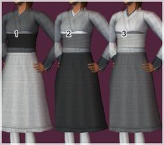 Another batch of Bereman separates for ladies~ Ashte & Leas Ashte is a wrapped, layered top+skirt combination for AF thru CF. It's slightly nonsensical in the back but whatever. AF and TF have both...