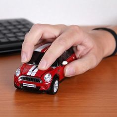 Click Car Wireless Mini Cooper S Mouse - Yellow Octopus