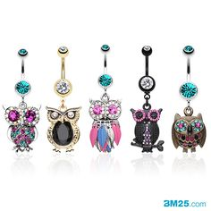 Amazing Owl Belly Ring Collection at BM25.com