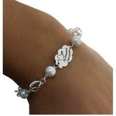 9bb91490d099  Pulsera Primera Comunión nube de Plata de ley con perlas   Joyeria online