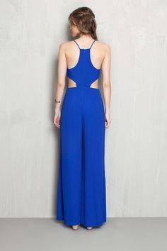 Macacão recorte lateral | Dress to