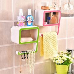 Creative Bathroom Storage Rack Kitchen Number Nine Sponge Holder Sundries Hook Home Organizer
