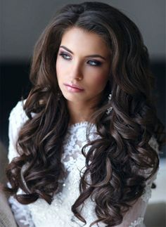 Thick Long Wavy Wedding Hairstyles 2015 - 2016