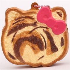 cute Hello Kitty toast bow squishy charm cellphone charm  1