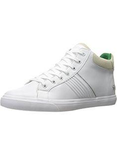 Lacoste Men's Fairlead Mid 316 1 Spm Fashion Sneaker, White, 10.5 M US ❤ Lacoste