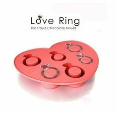 6Love Diamond Ring Ice Mold Tray Flexible Silicone by HappyDIY on Wanelo