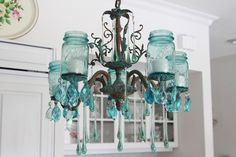 What a great use of vintage Ball jars.