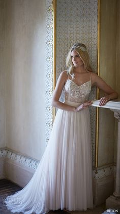 bhldn fall 2015 wedding dresses spagetti strap v neckline beaded ella bodysuit romantic ivory tulle skirt amora enchanted // Pinned by Dauphine Magazine x Castlefield - Curated by Castlefield Bridal & Branding Atelier and delivering the ultimate experience for the haute couture connoisseur! Visit www.dauphinemagazine.com, @dauphinemagazine on Instagram, and @dauphinemag on Pinterest • Visit Castlefield: www.castlefield.co and @ castlefieldco on Instagram / Luxury, fashion, weddings, bridal…