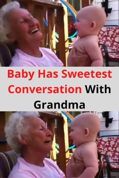 And it's especially cute when that baby is trying to talk to her great-grandmother.