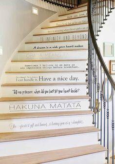 Disney stairs. Disney home decor
