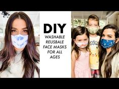 DIY: FACE MASKS For All Ages (Washable + Re-Usable!) -By Orly Shani - YouTube