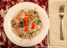 Lemon Ricotta Pasta with Spinach and Asparagus - The Newlyweds Cookbook