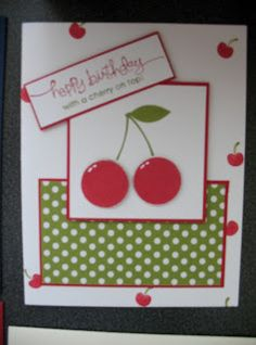 Mouthwatering Birthday card  #stampin' up! #scrapbook #cherry