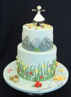 Sound of music themed cake, perfect for enjoying with the family this holiday season.